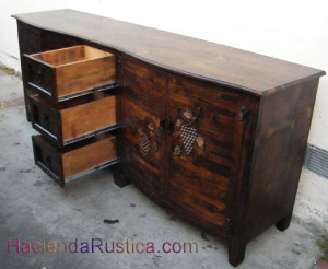 double Round-vanity carves with grapes