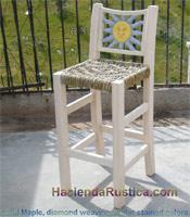 maple wood stool carved